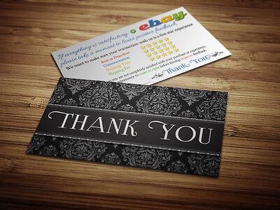 500 Ebay Er Thank You Professional Business Cards 5 Five Star Rating Elegant