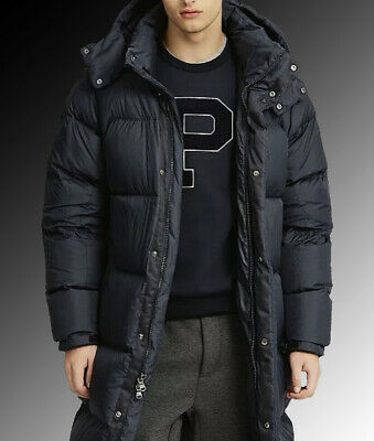Polo Ralph Lauren Hooded Long Down Parka Jacket Coat Men ...