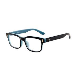 Hot-Fashion-Mens-Womens-Retro-Clear-Lens-Glasses-Frame-Eyewear-Unisex-Gray