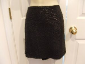 NWT-44-BISOU-BISOU-BLACK-SOLID-SEQUIN-Party-Prom-cocktail-SKIRT-size-MEDIUM