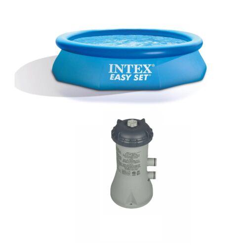 """Intex 10'x30'x30"""" Piscina Inflável acima do solo e sistema de bomba de Filtro Cartucho"""