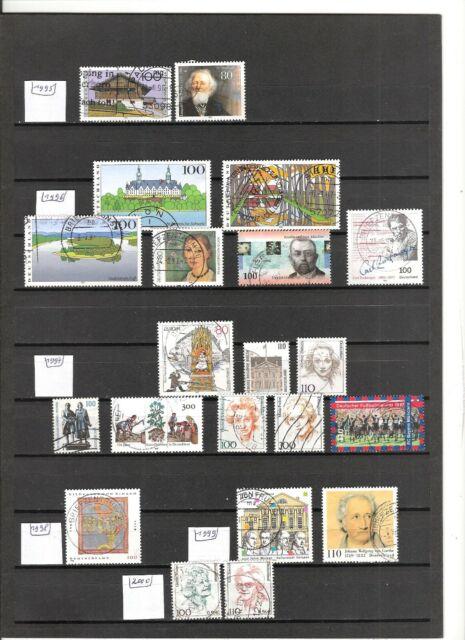 N°862 Allemagne Fédérale ( 1995-2000 ) - 21 timbres oblitérés