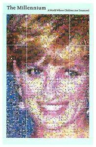Princess-Diana-Millennium-Stamps-4-miniature-sheets-MNH