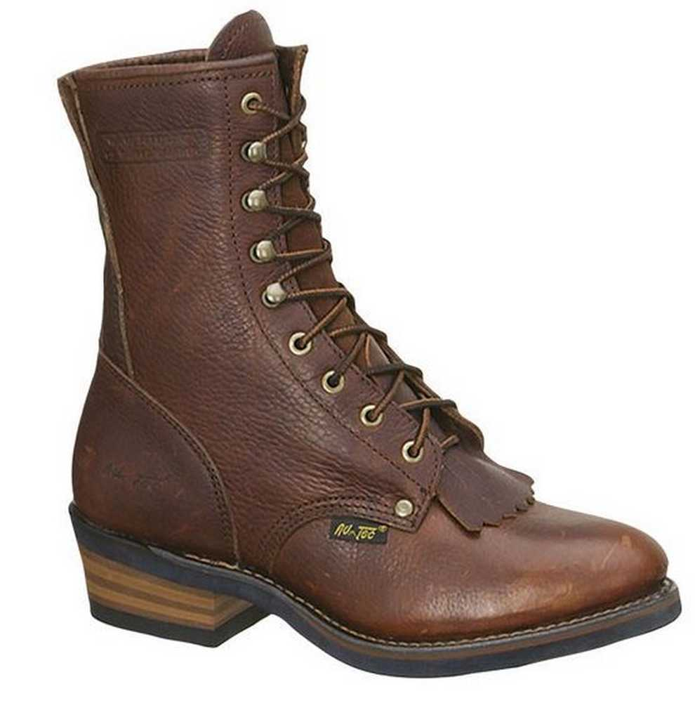 AdTec Men's 9  Packer Work Boot, Tumble Chestnut Brown Leather 1173