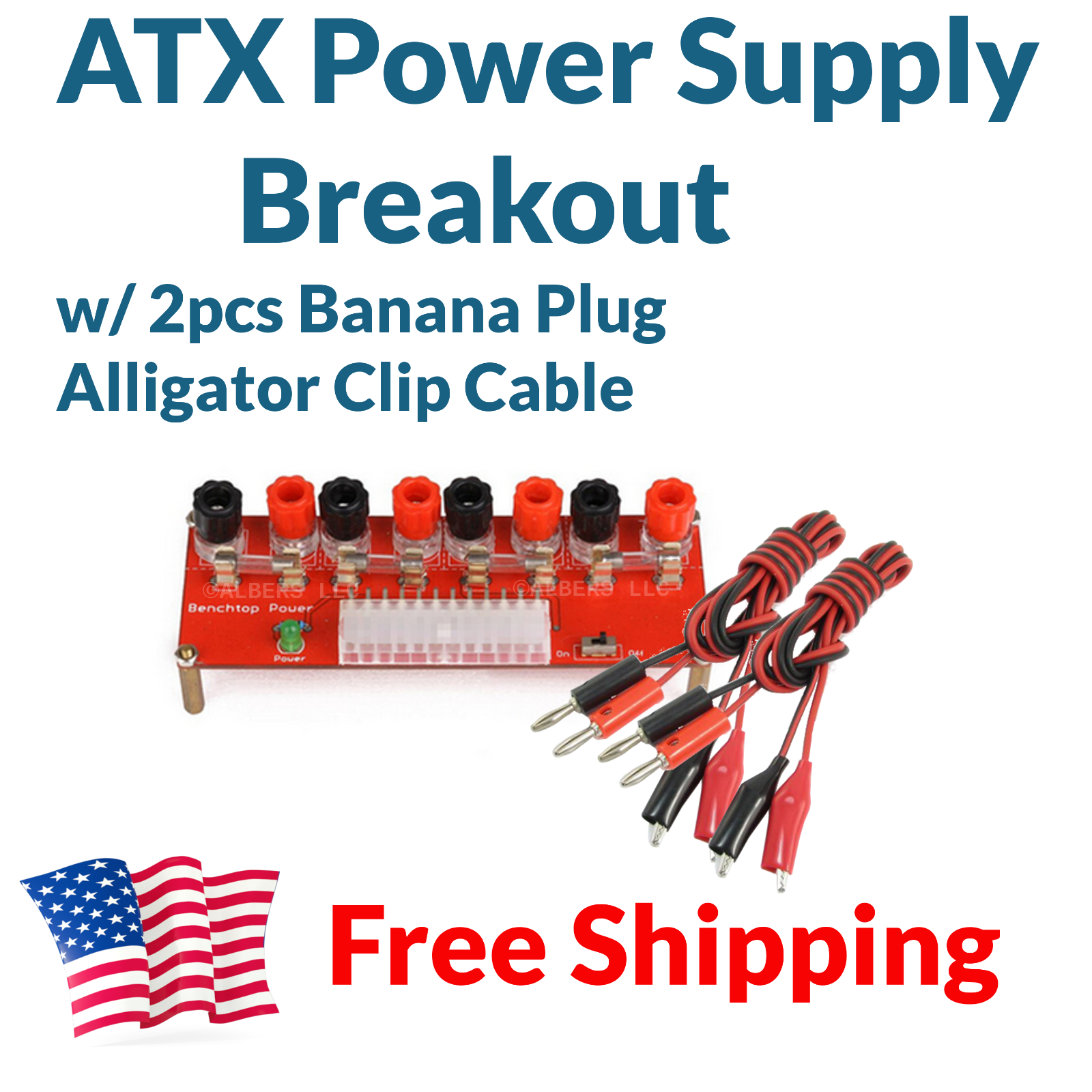 Atx Computer Power Supply Breakout Board Adapter  2pc
