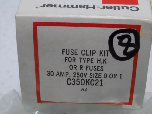CUTLER-HAMMER 30A 250V SIZE 0 OR 1 FUSE CLIP KIT C350KC21 NIB