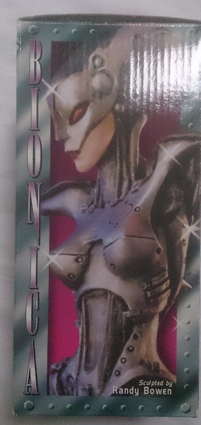 Bowen Bionica signed Randy Bowen mini bust statue with box VGC rare