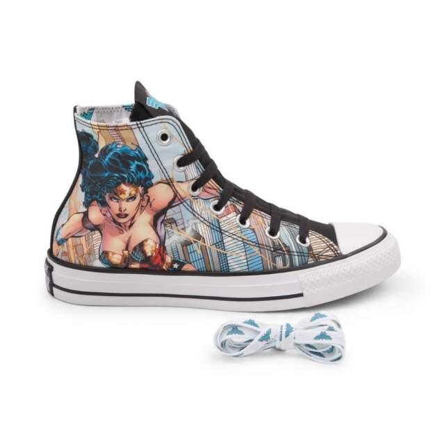 588b2bdb03bf NEW Print Converse Chuck Taylor All Star Hi Wonder Woman Sneaker Batman  Superman