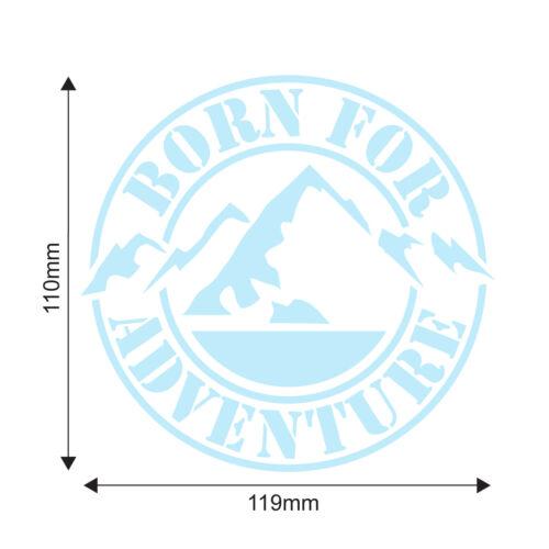 Born For Adventure Campervan Sticker T25 T3 T4 T5 Car Caravan Vinyl Decal