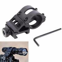 "1""Offset Rifle Scope Flashlight Torch Gun Laser Mount 25mm Weaver Picatinny Rail"