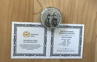 2019 GERMANIA 5 MARK 1 OZ .9999 SILVER FIRST RELEASE 25,000 mintage in Capsule