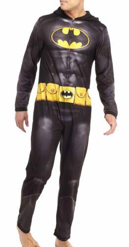 $160 BRIEFLY STATED PAJAMA GRAY BATMAN ONE PIECE FOOTIE LOUNGE SLEEPWEAR SIZE M
