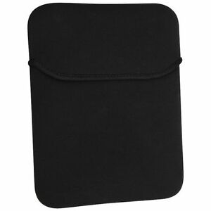 Black-Soft-Neoprene-Sleeve-Case-Cover-Pouch-Bag-For-Apple-Samsung-10-034-Tablet
