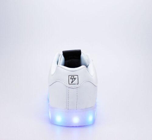 ELECTRIC STYLES LIGHT UP BOLT COLOR LED SNEAKERS RAVE EDM SHOES SIZE K1//W3-M15