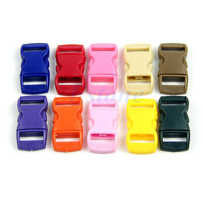 10Pcs Colored Curved Side Release Plastic Buckles For Umbrella Paracord Bracelet