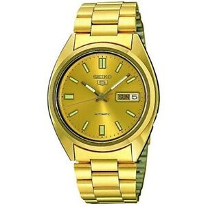 Seiko-5-SNXS80-K1-Gold-Tone-with-Gold-Dial-Mens-Automatic-Watch