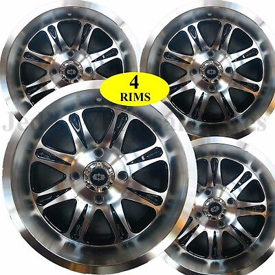 ATV RIMs WHEELs for Yamaha Grizzly 700 IRS 14x8 4+4 rear 14x7 4+3 front 4//110