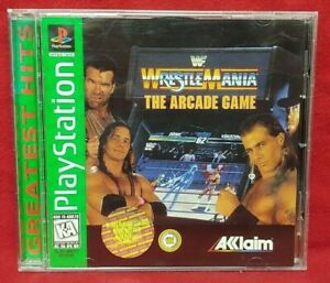 WrestleMania-Arcade-Game-Playstation-1-2-PS1-PS2-Game-Complete-Tested-Working