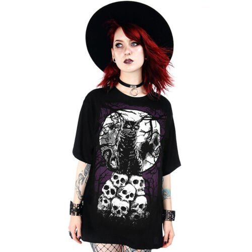Unisex T-Shirt // goth witchy Restyle bats occult Morbid Cat