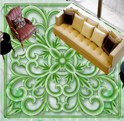 3D Grün Floral Art 782 Floor WallPaper Murals Wall Print Decal AJ WALLPAPER US