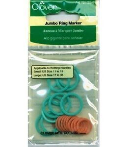 Clover Jumbo Stitch Ring Markers Art No. 354