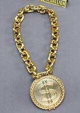 Massive Dollar Sign Medallion Gold Chain Necklace Pimp Gangster Fancy Dress