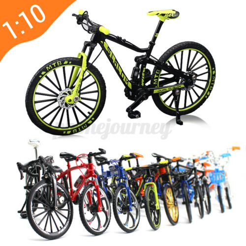 1:10 Alloy Bicycle Model Toy Racing Bike Cross Mountain Bike Kids Gift Decor