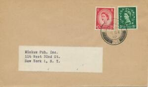 GB-1952-QEII-1-1-2-d-and-2-1-2-d-mixed-franking-on-superb-commercially-used-FDC