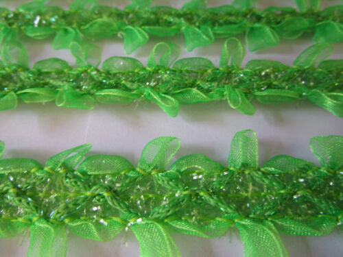 2 metros de punta cenefa nichtelastish verde claro 2,5cm