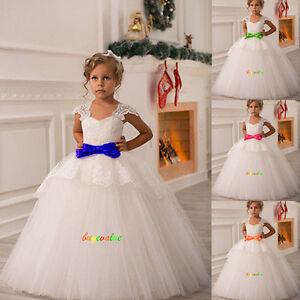 a7d5612de22ad 2-14 robes de fille robe enfant robe filles de fleurs de mariage ...