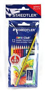 Mega-Pack-144-Buntstifte-STAEDTLER-NORIS-CLUB-plus-12-Bleistifte-12-Radierer