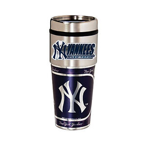 Yankees-Travel-Tumbler-16oz-Stainless-Steel-mug-Plastic-Insert-Logo-New-York