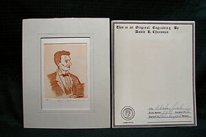 OPC-1972-Abraham-Lincoln-Etch-amp-Dry-Point-Engraving-By-David-R-Cheesman-5-of-99