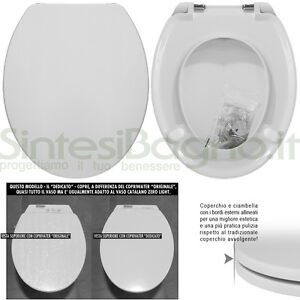 Details about WC Seat SintesiBagno MADE for Catalano WC ZERO LIGHT series.  ICIEU100