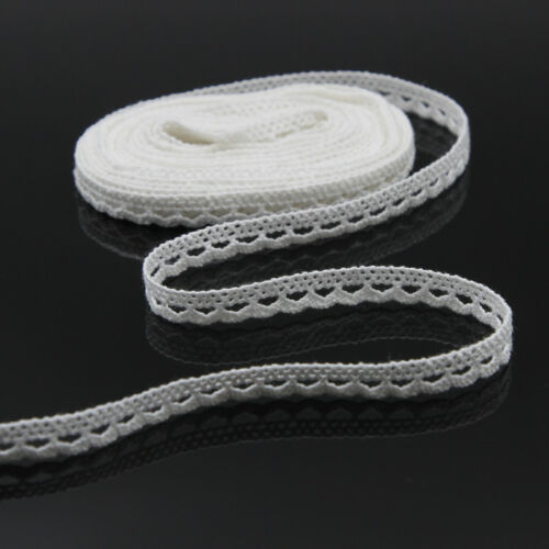 5m//196/'/' Cotton Vintage Off White Crochet Lace Trim Sewing Ribbon Trimming Craft
