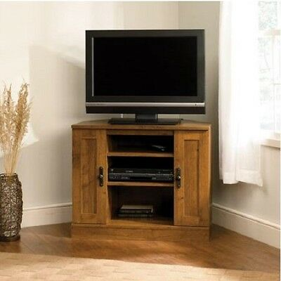 Corner TV Stand Modern Small Entertainment Center Wooden Media Cabinet  Console 42666606622 | EBay