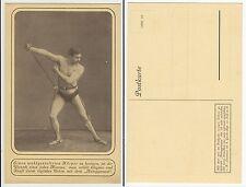 Halb Nackter Mann Muskelmodell Autogymnast Bodybuilder Male semi nude c1915 Gay
