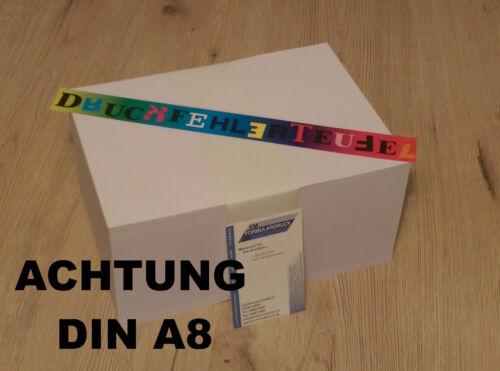 Karteikarten Vokabelkarten Lernkarten Blanko 50-20000 Blatt 170 g//m² DIN A8 Weiß