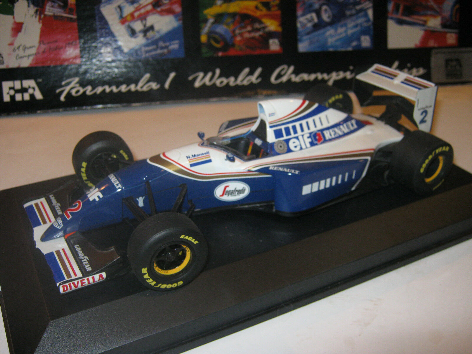 1 18 Williams Renault fw16 N. Mansell  1994 Minichamps in BRANDnouveau Showcase Top  magasin d'usine de sortie