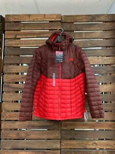 Details about The North Face Men's ThermoBall Insulated Hoodie TNF Jacket NWT XL Sequoia Red