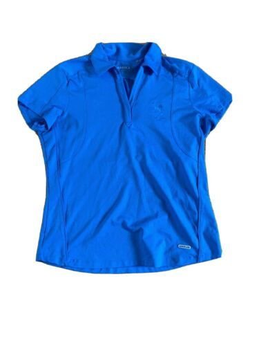 annika cutter and buck Woman's Blue Golf Shirt Lar