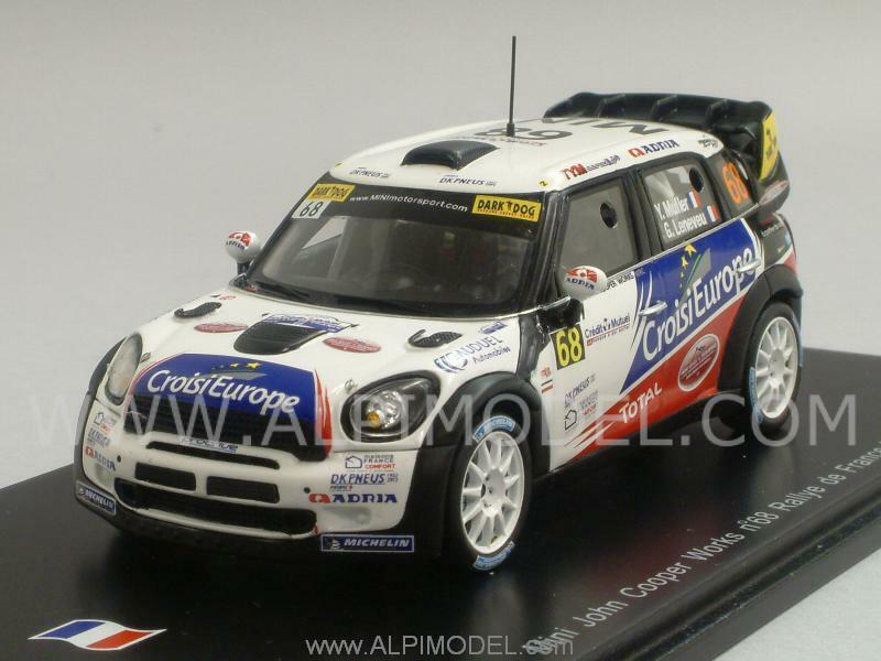 Mini John Cooper Works Rally France 2012 Muller - Leneveu 1 43 SPARK SF039
