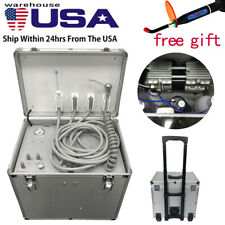 Dental Portable Mobile Delivery Unit Suction System Rolling Case 550w Compressor