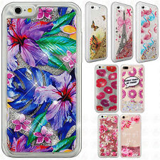 For Apple iPhone 6 4.7 Liquid Glitter Quicksand Hard Case Phone Cover Accessory