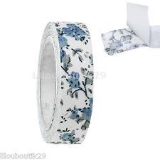 Ruban adhésif tissu Rouleau de 4 m  Fleur bleu