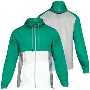 laajat lajikkeet uusi halpa paremmin Details about Under Armour Men's Green UA Sportstyle Windbreaker  Lightweight Zip Hooded Jacket