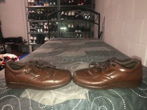 sas time out mens leather casual oxfords shoes size 11 s