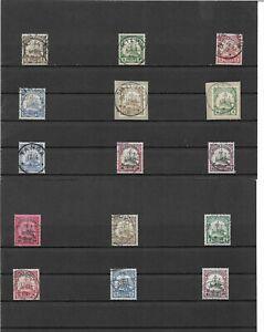 DOA, tedesco-Africa Orientale, 1901-1920, singola marchi da minrn: 11 - 39 o, timbrato