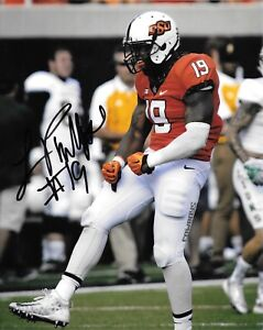 4721335f52d Image is loading JUSTIN-PHILLIPS-HAND-SIGNED-OKLAHOMA-STATE-COWBOYS-8X10-