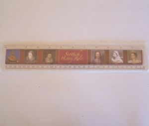 VINTAGE SCOTTISH HISTORY KINGS QUEENS LIST SCOTLAND UK PROMO 30cm PICTURE RULER